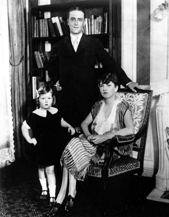 F. Scott Fitgerald con Zelda y Scottie